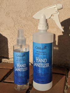 CALI 80% Alcohol Hand Sanitizer 8oz and 16oz Spray Bottles